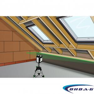 Зелен линеен лазерен нивелир CompactCross-Laser Pro Set 5