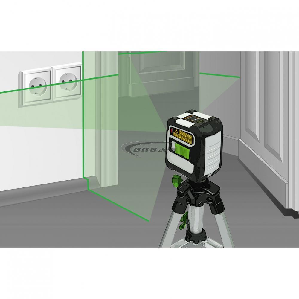 Зелен линеен лазерен нивелир CompactCross-Laser Pro Set 8