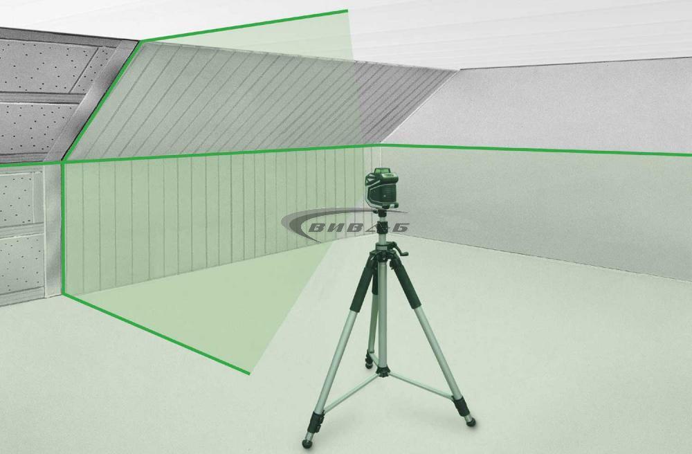 Зелен линеен лазер X1-Laser комплект с тринога FixPod 155 cm 1
