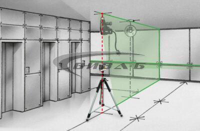 Зелен линеен лазер MasterCross-Laser 2GP в комплект с бързозарядно устройство 3