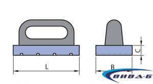 Керамичен сегмент с дръжка  80х25х150 10С 1