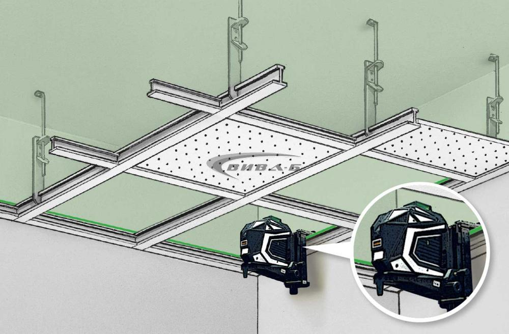 Зелен линеен лазер X1-Laser комплект с тринога FixPod 155 cm 7