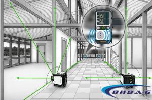 Зелен ротационен лазер Cubus G 210 S в комплект със статив 150 см и телескопична нивелираща лата LT 4м 14