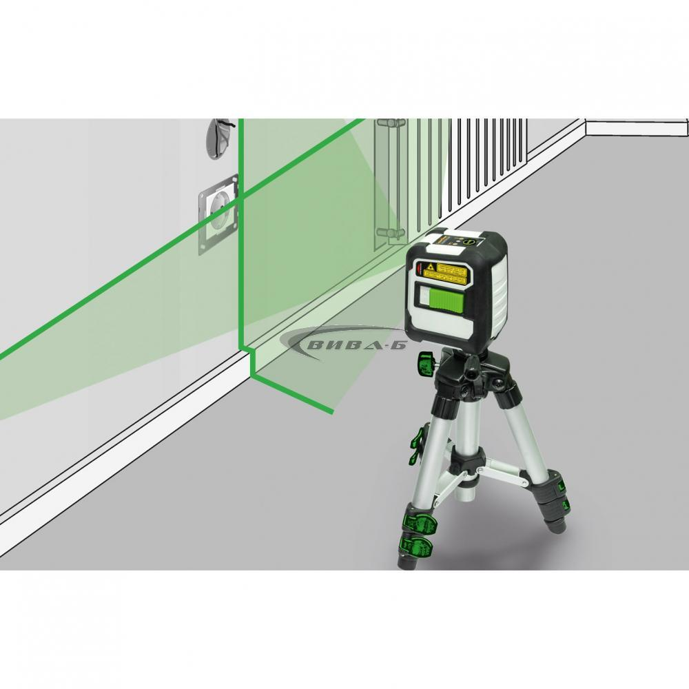 Зелен линеен лазерен нивелир CompactCross-Laser Pro Set 4
