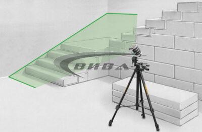 Зелен линеен лазер MasterCross-Laser 2GP в комплект с бързозарядно устройство 4